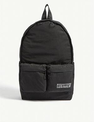 Skull logo satin nylon backpack. OFF-WHITE C O VIRGIL ABLOH Logo-print  shell backpack f0053c7447389