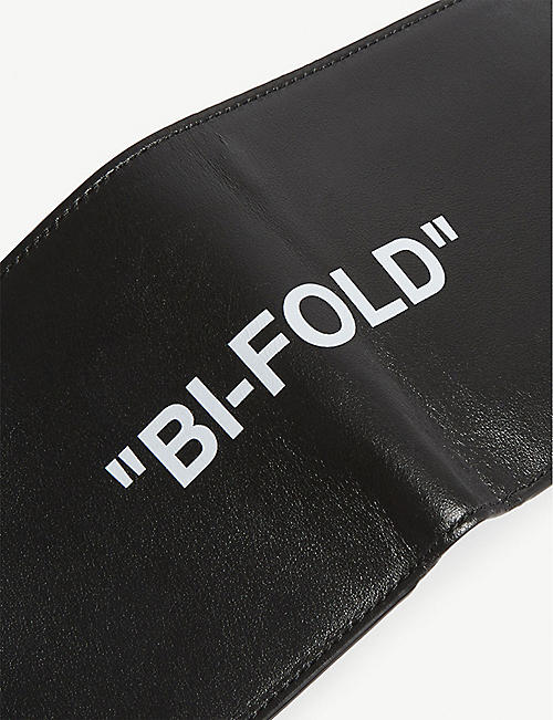 OFF-WHITE C/O VIRGIL ABLOH Quote leather bi-fold wallet