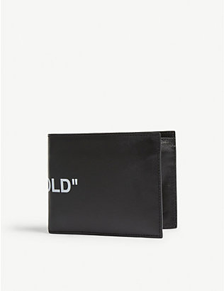 OFF-WHITE C/O VIRGIL ABLOH: Quote leather bi-fold wallet