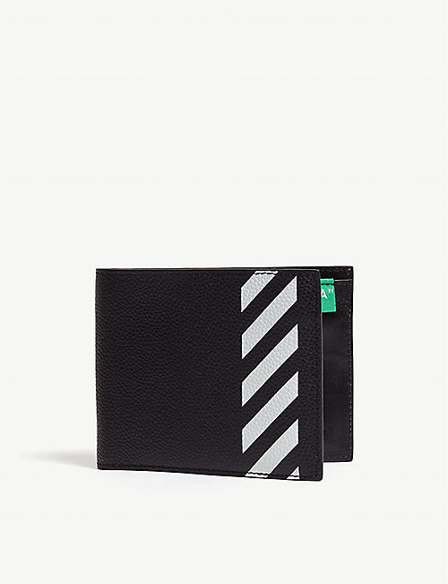 d8a034041d OFF-WHITE C O VIRGIL ABLOH Striped leather bi-fold wallet