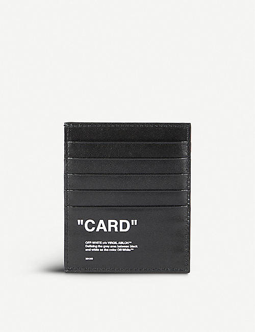 3ac8fb8ad2e2 OFF-WHITE C O VIRGIL ABLOH - Quote leather card holder