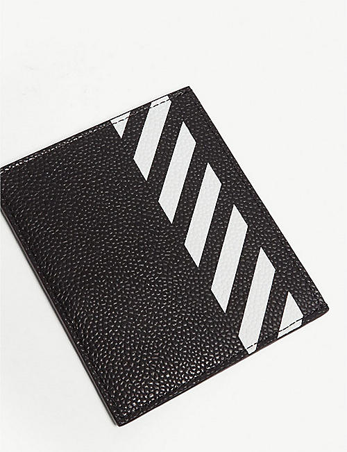 OFF-WHITE C/O VIRGIL ABLOH Logo-print leather cardholder
