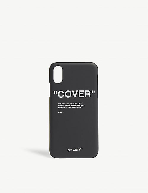 30a95645851f OFF-WHITE C O VIRGIL ABLOH - Quote silicone iPhone X case ...