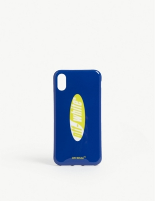 OFF-WHITE C/O VIRGIL ABLOH Split logo plastic iPhone X case