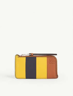 LOEWE Leather striped cardholder