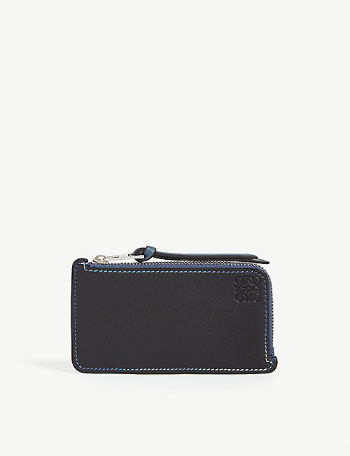 LOEWE Colour-block leather card holder