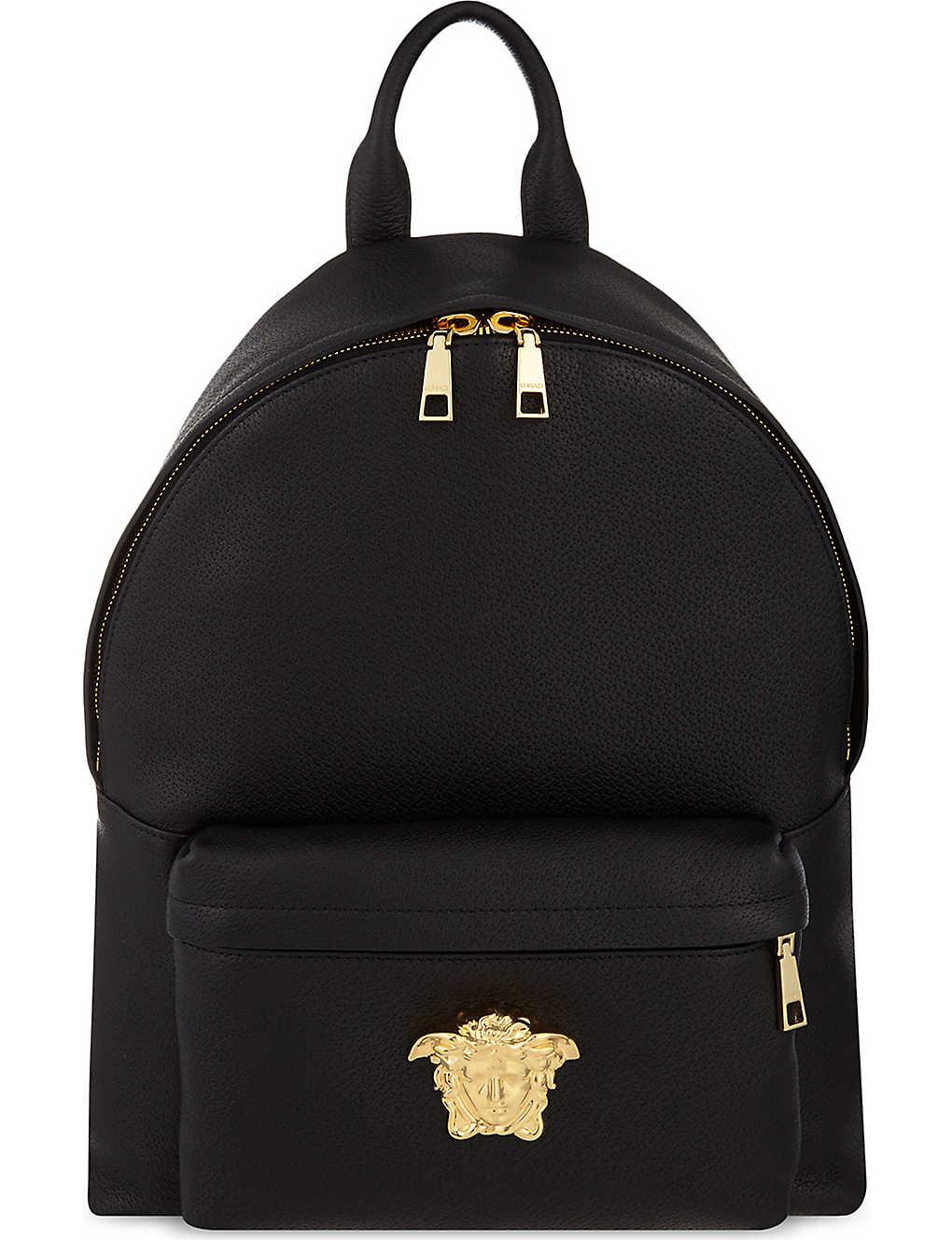 954f8d6aed2 VERSACE - Medusa leather backpack | Selfridges.com