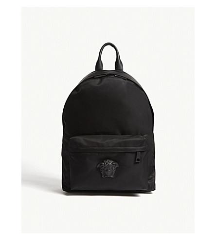 7dfdb13fc3 VERSACE Medusa nylon backpack (Black+black