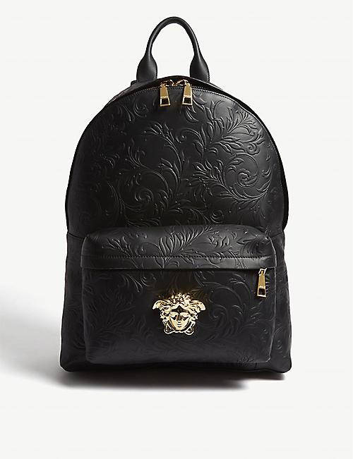 f598526171 VERSACE - Medusa patterned leather backpack