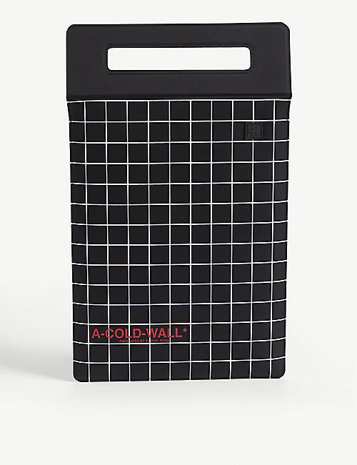 A-COLD-WALL: Grid print tablet case