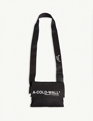 A-COLD-WALL Logo canvas utility holster bag