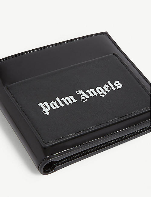PALM ANGELS Leather branded wallet