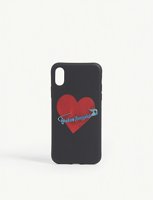 PALM ANGELS Pin My Heart silicone iPhone X case