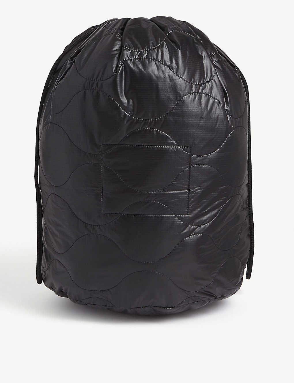 THE SOLOIST: Poem quilted nylon shell drawstring bag