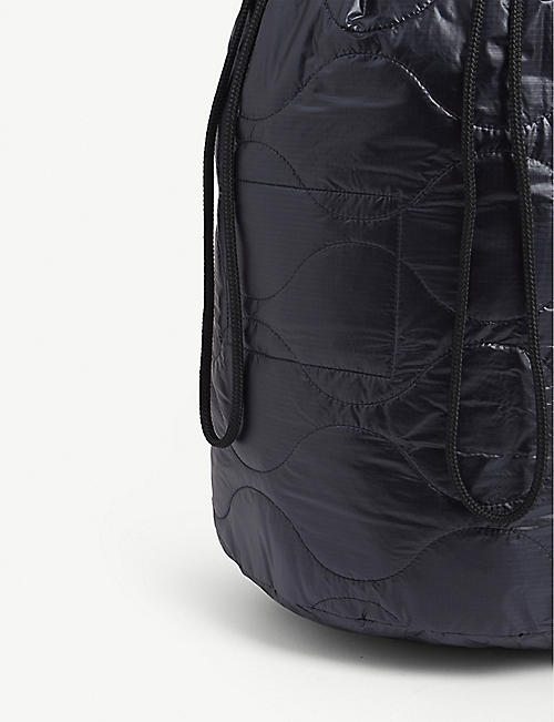 THE SOLOIST Poem quilted nylon shell drawstring bag