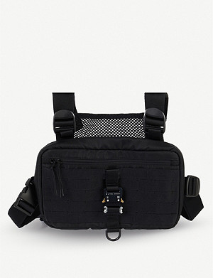 1017 ALYX 9SM Buckled nylon and mesh chest rig harness pouch