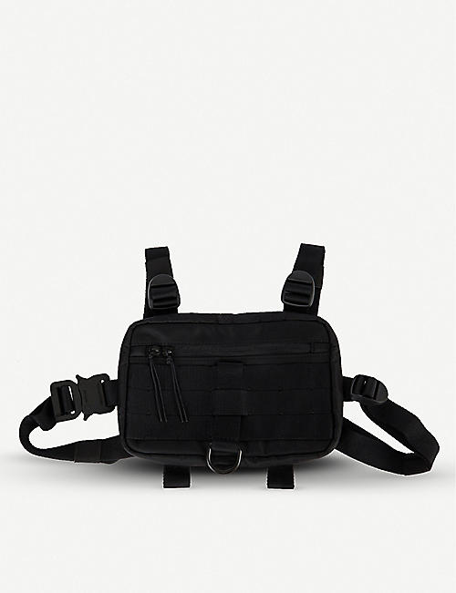1017 ALYX 9SM Buckled mini nylon and mesh chest rig harness pouch