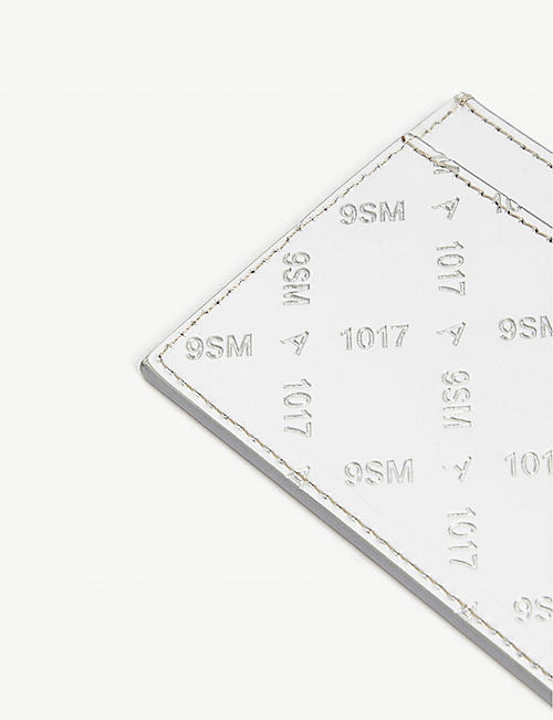 1017 ALYX 9SM Ryan metallic leather cardholder