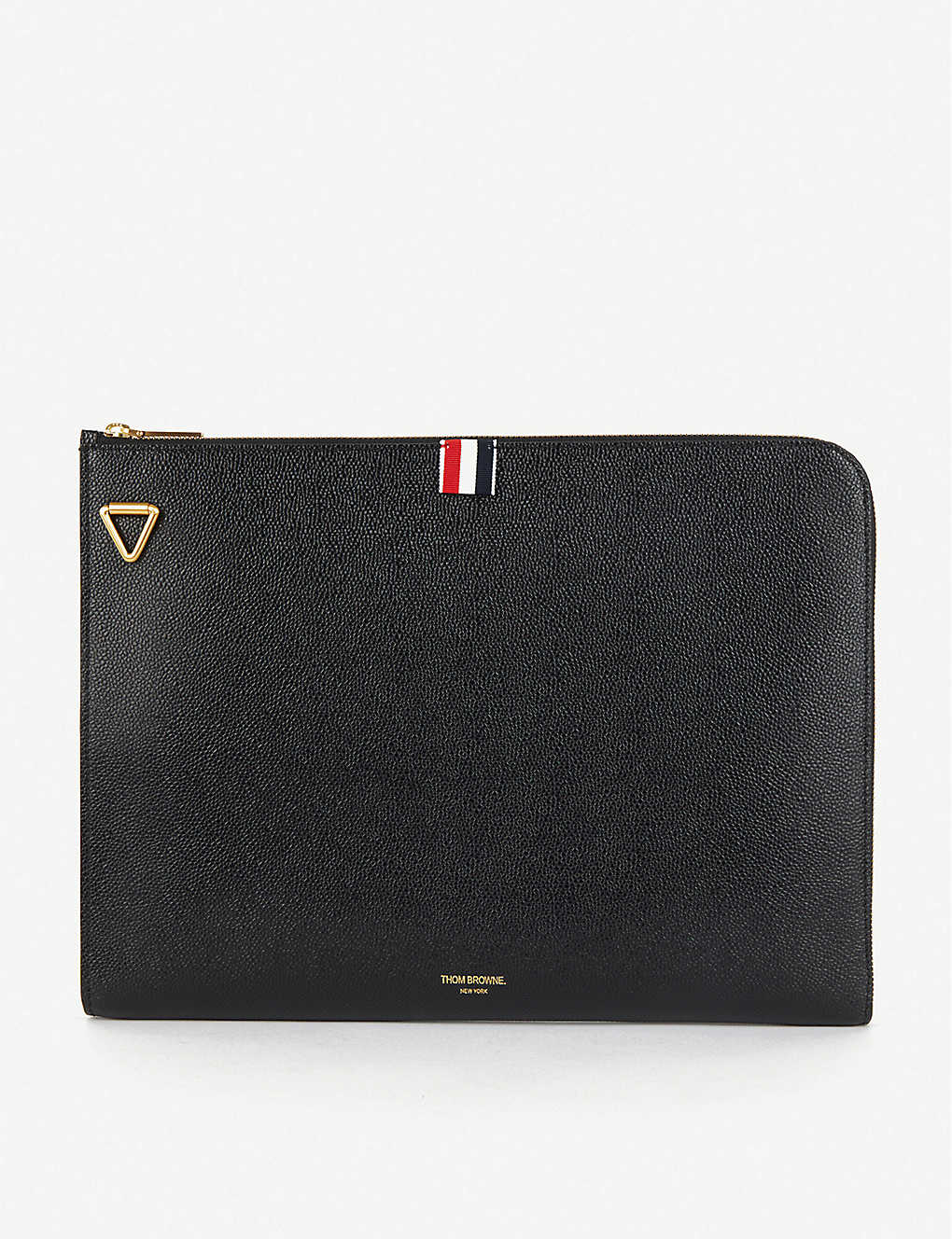 THOM BROWNE: Folio saffiano leather shoulder bag