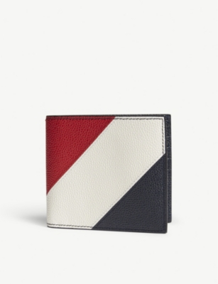 THOM BROWNE RWB stripe leather billfold wallet