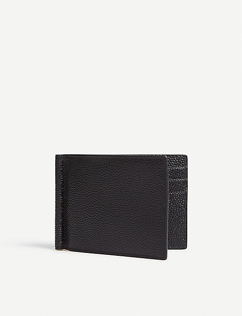 THOM BROWNE Grained leather wallet