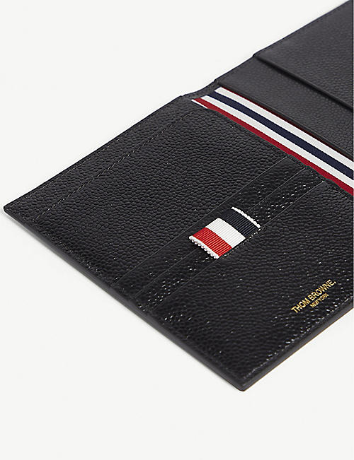THOM BROWNE RWB pebbled leather passport holder