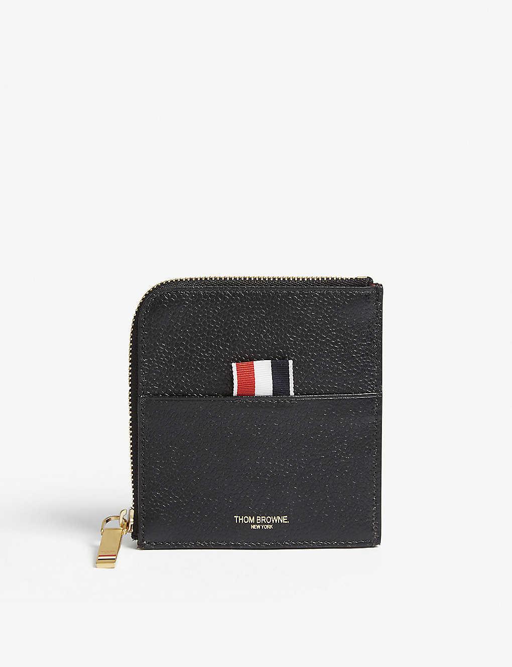 f32ead8ee58b THOM BROWNE - Pebbled leather card wallet | Selfridges.com