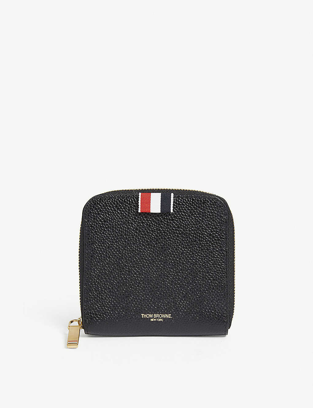 a7720fe3a65b THOM BROWNE - Pebbled leather zip-around wallet | Selfridges.com