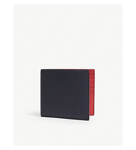 ccfa6c632e43 THOM BROWNE - Pebbled leather billfold wallet