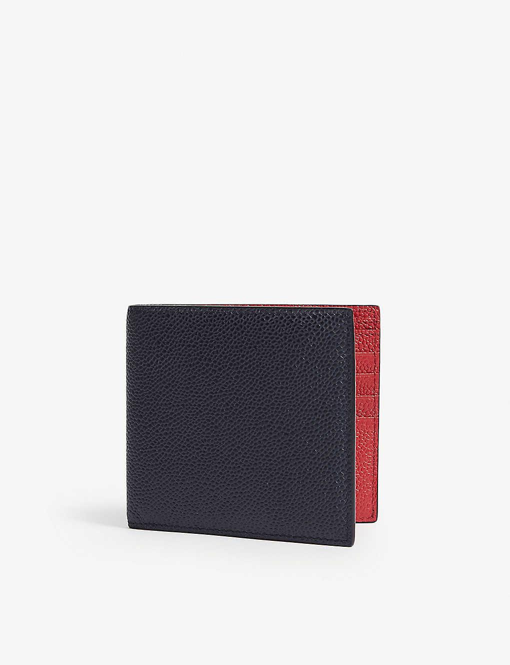 fd7f46c4195 THOM BROWNE - Pebbled leather billfold wallet | Selfridges.com