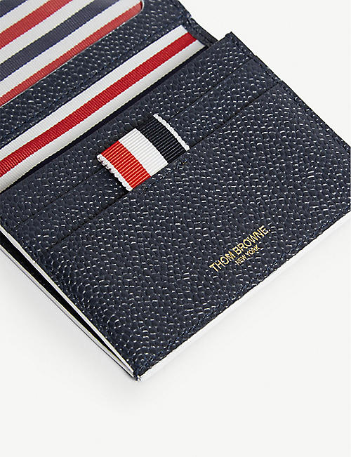THOM BROWNE Leather cardholder