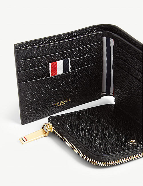 THOM BROWNE Coin purse leather billfold wallet