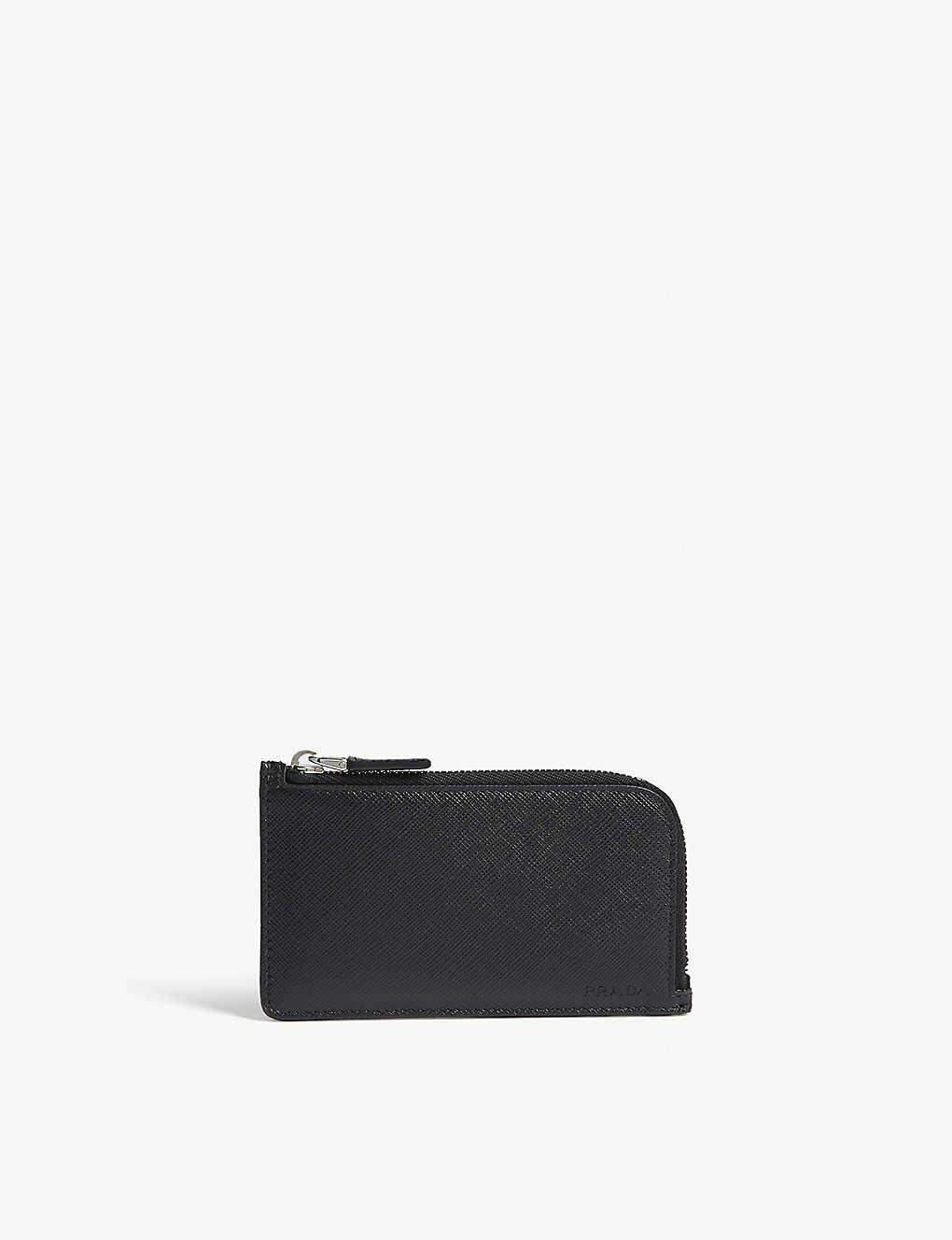 97c1cc13339c2b PRADA - Saffiano leather zipped card case | Selfridges.com