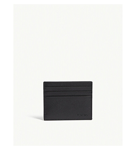 ae4fa06f947c PRADA - Saffiano leather card holder | Selfridges.com