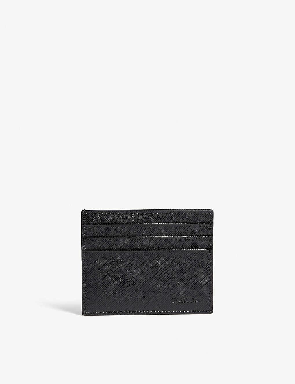 47c375ccebe4 PRADA - Saffiano leather card holder   Selfridges.com