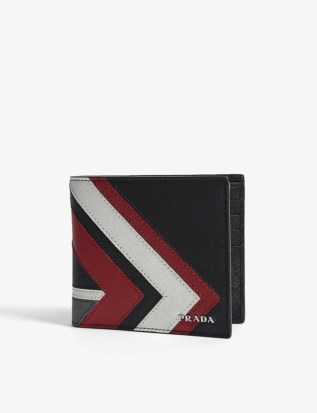 fa045e4da35d PRADA - Chevron Saffiano leather billfold wallet   Selfridges.com