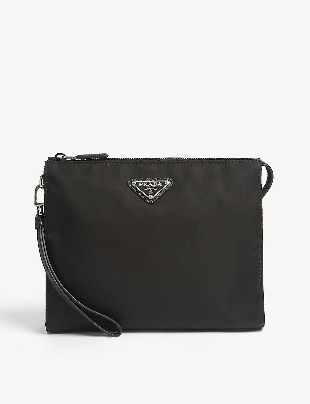 e5b6ace5245b PRADA - Triangle logo nylon wash bag | Selfridges.com