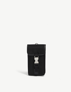 PRADA Single clip nylon keyring pouch