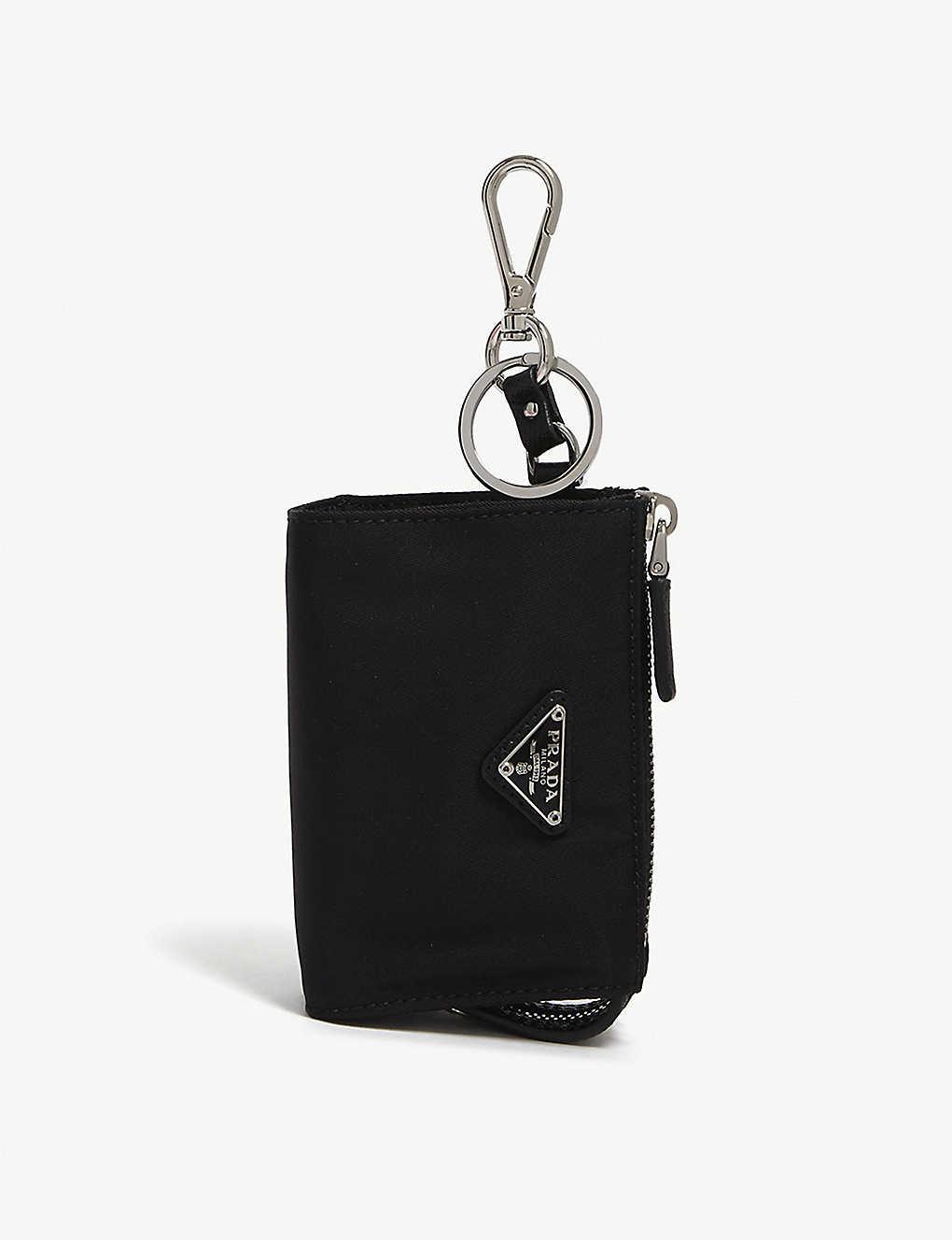 7e53ec3821d2 PRADA - Mini nylon pouch keyring | Selfridges.com