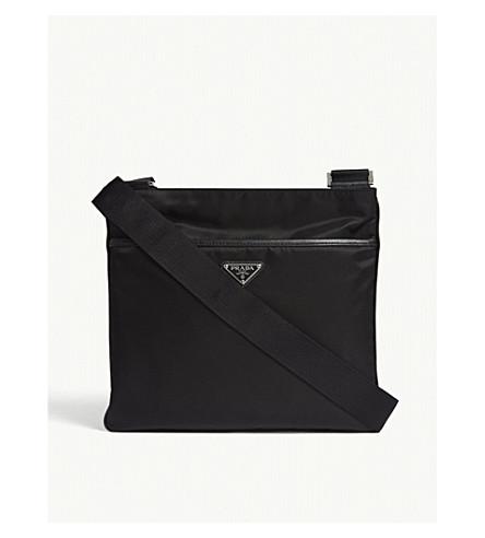 5af65a7c1cbb PRADA Flight nylon shoulder bag (Black