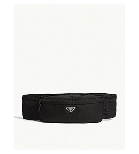 c66f62b1c771 ... PRADA Logo nylon belt bag (Black. PreviousNext