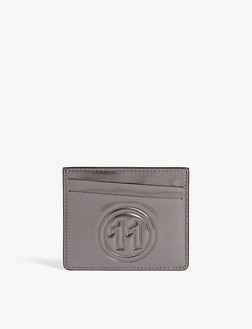 MAISON MARGIELA Metallic leather card holder
