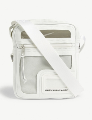 MAISON MARGIELA Transparent panels leather cross-body bag