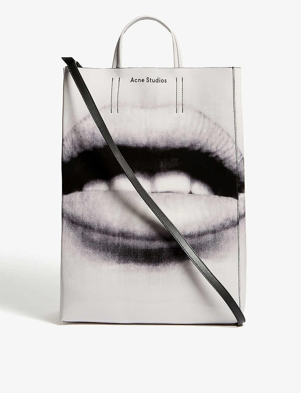 Baker lips tote bag blackwhite