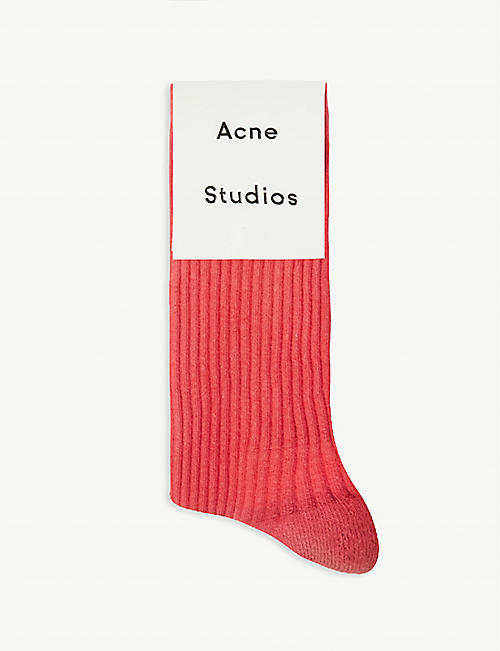 ACNE STUDIOS Ombre ribbed cotton-blend socks