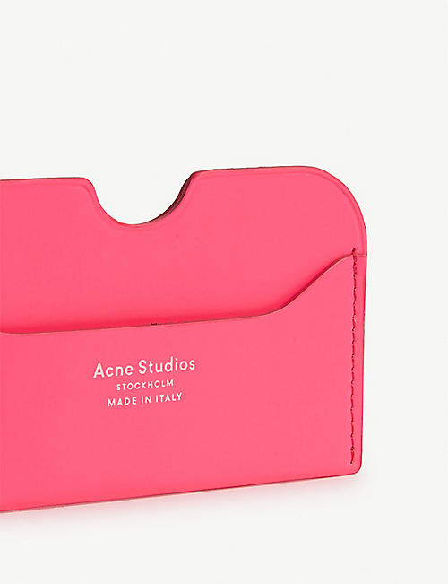 ACNE STUDIOS Leather card holder
