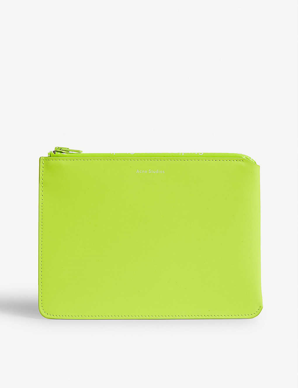 ACNE STUDIOS: Malachite neon leather pouch