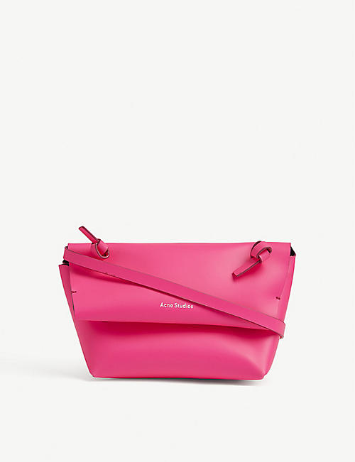 ACNE STUDIOS Fluorescent mini leather shoulder bag