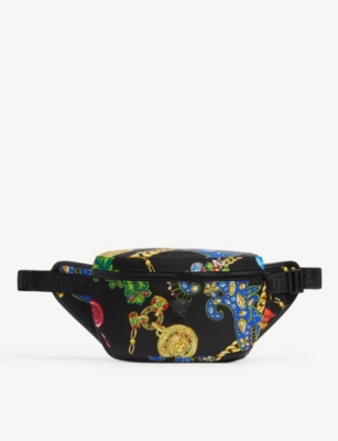 VERSACE Catene print nylon belt bag