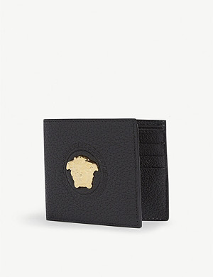 VERSACE Medusa logo grained leather wallet